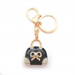 Black Handbag Keyring