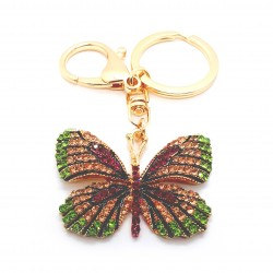 Butterfly Keyring Pink