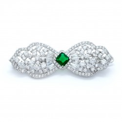Foxglove Hair Clip Emerald Green