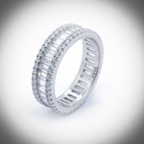 Camellia 925 Silver Eternity Ring