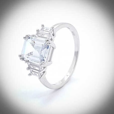 Hibiscus 925 Silver Ring