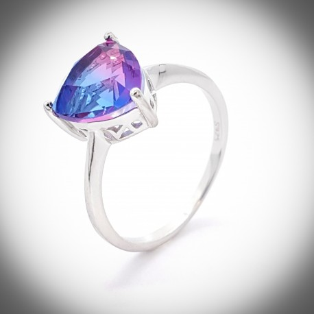 925 Silver Topaz Thistle ring