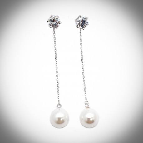 Begonia Pearl Earrings