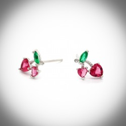 Cherry Sterling Silver Earrings