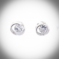 Damask Rose 925 Sterling Silver Earrings