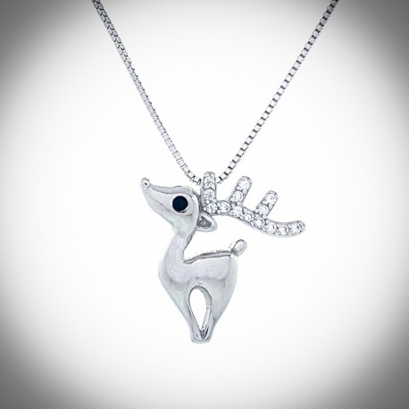 Holly Reindeer Necklace