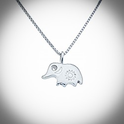 Forget me not Elephant Necklace