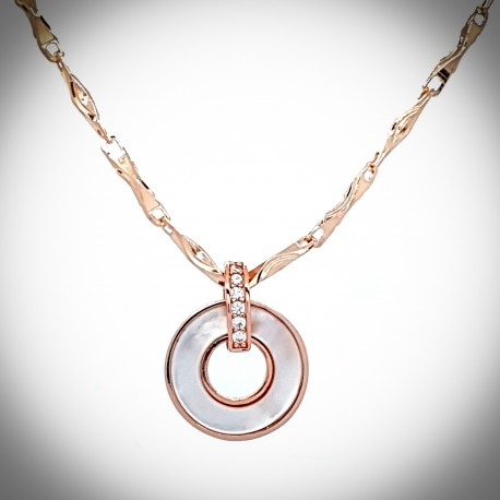 Clematis Necklace Rose Gold